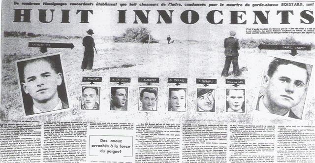 Article Huit innocents - Procès Mis et Thiennot