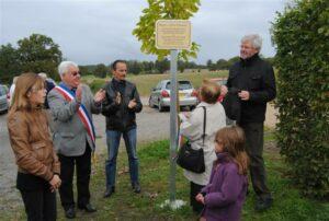 Inauguration d'un square Mis et Thiennot sur la commune Mouhet (36)