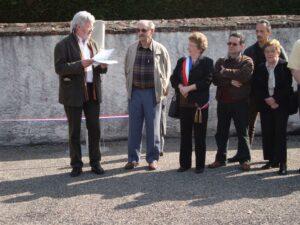 Inauguration d'une place Mis et Thiennot sur la commune de Thenay (36)